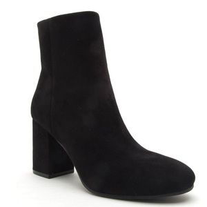 "NEW Qupid faux suede classic sock booties 3"" heel"